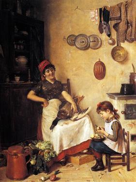 Kitchen Help by Isidor Kaufmann