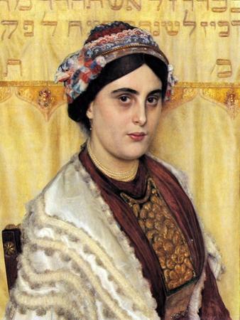 Portrait of a Woman in Festive Dress