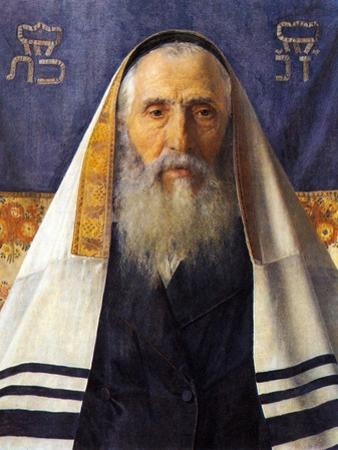 Rabbi with Prayer Shawl