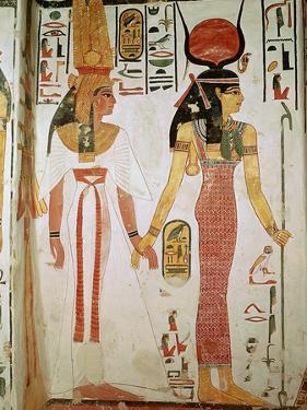 Isis and Nefertari, from the Tomb of Nefertari, New Kingdom (Mural)