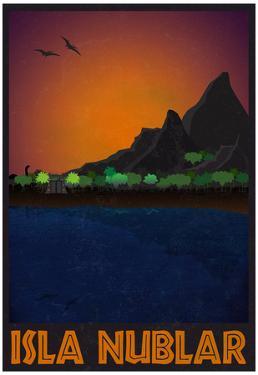 Isla Nublar Retro Travel Poster