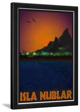 Isla Nublar Retro Travel Poster