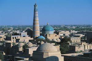 Islam Khodja Minaret, 1910, Khiva, Uzbekistan