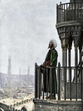 Islamic Muezzin Calling People to Prayer, 1800s