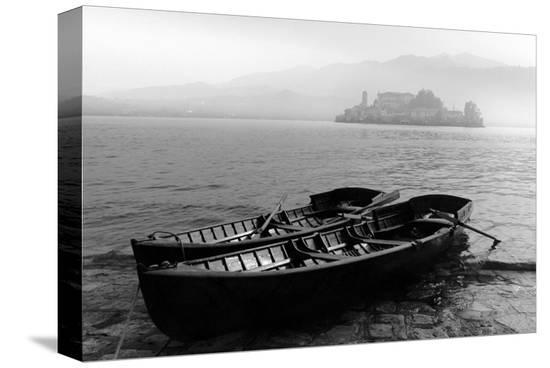 Isle of San Giulio in the Mist--Stretched Canvas Print