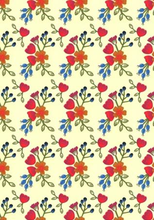 Flora print, 2015 by Isobel Barber