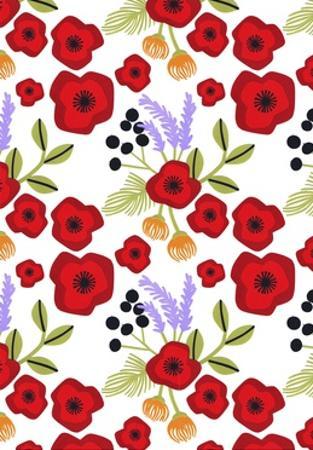 Poppy print, 2015 by Isobel Barber