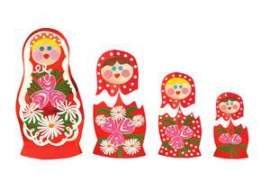 Russian dolls by Isobel Barber