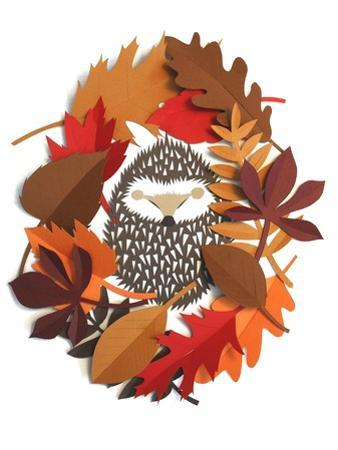 Sleeping hedgehog by Isobel Barber