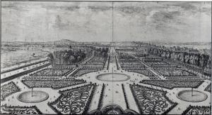The Tuileries Garden by Israel Silvestre