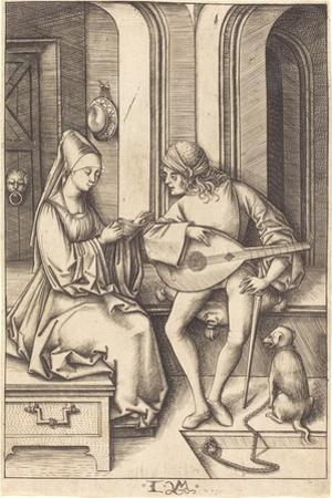 The Lute Player and the Singer, c.1500 by Israhel van Meckenem