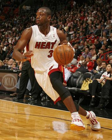 Cleveland Cavaliers v Miami Heat: Dwyane Wade by Issac Baldizon
