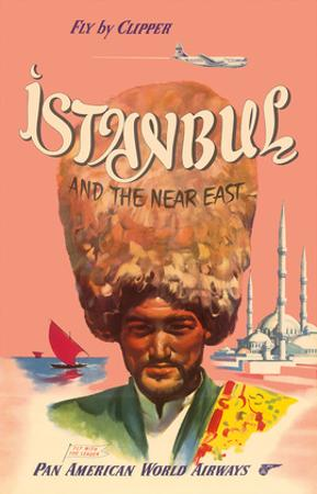 Istanbul Turkey and the Near East, Fly by Clipper, Pan American World Airways
