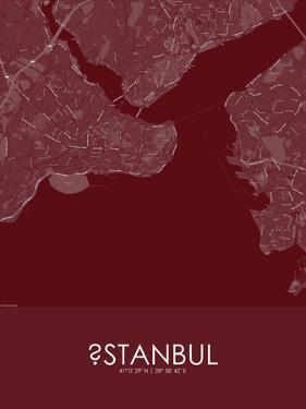 Istanbul, Turkey Red Map