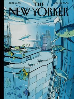 The New Yorker Cover - April 25, 2005 by Istvan Banyai