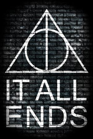 It All Ends Final Episode Movie Plastic Sign