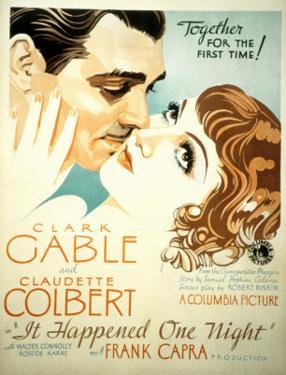 It Happened One Night, Clark Gable, Claudette Colbert, 1934