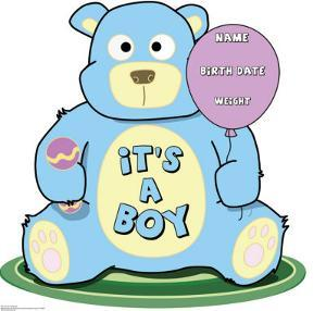 It's A Boy Teddy Bear Lifesize Standup