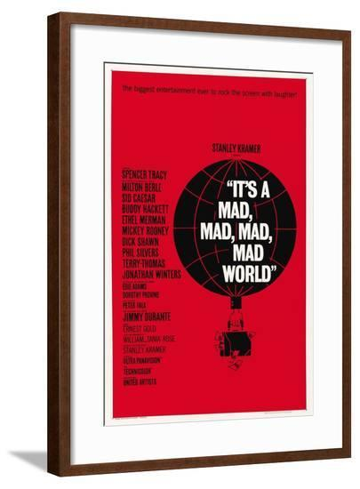"""""""It's a Mad, Mad, Mad, Mad World"""" 1963, Directed by Stanley Kramer--Framed Giclee Print"""