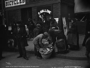 Italian Bread Peddlers, Mulberry St., New York, C.1900