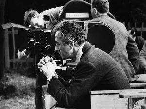 Italian director Michelangelo Antonioni (1912 - 2007) on the set of his film Blow Up, 1967 (b/w pho