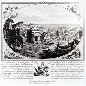 Early Settlement of Venice (Engraving) (Also See 316845) by Italian