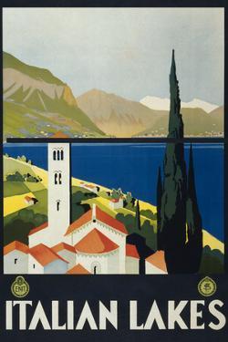 Italian Lakes Tourism Vintage Ad