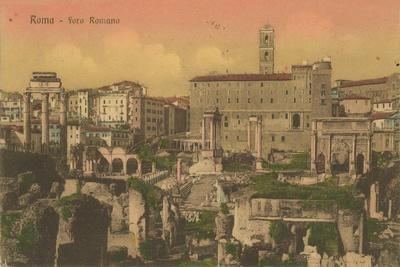 Forum Romanum, Rome. Postcard Sent in 1913