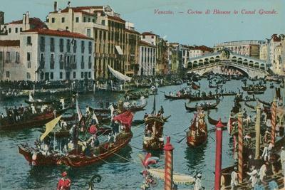 Grand Canal, Venice. Postcard Sent in 1913