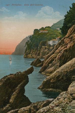 Portofino, Italy. Gola Dell' Inferno. Postcard Sent in 1913