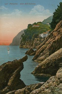 Portofino, Italy. Gola Dell' Inferno. Postcard Sent in 1913 by Italian Photographer