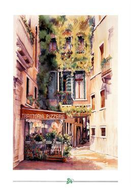 Italian Restaurant Art Print Poster Italy trattoria