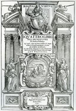 Frontispiece to 'Quattro Libri Dell'Architettura' by Andrea Palladio, 1570 by Italian School