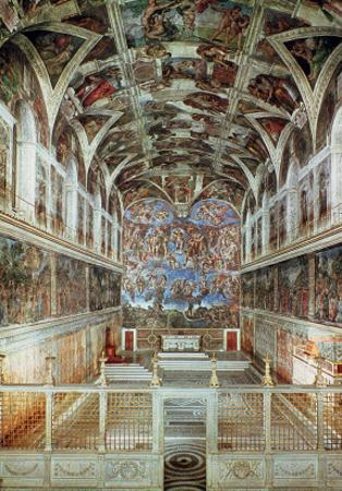 Interior View of the Sistine Chapel by Italian School