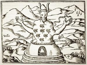Moloch, Copy of an Illustration from 'Oedipus Aegyptiacus' by Athanasius Kirchner, Rome 1652 by Italian School