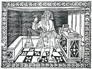 Money Changer, Illustration from 'Libro Di Givocho Di Scacchi' by Jacobus De Cessolis, 1493 by Italian School