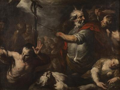 Moses and the Brazen Serpent by Italian School