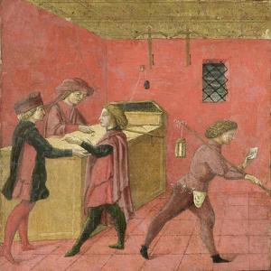Payment of Salaries to the Night Watchmen in the Camera del Comune of Siena,1440-60 by Italian School