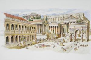 Roman Forum by Italian School