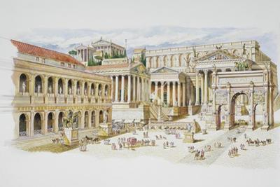 Roman Forum by Italian School