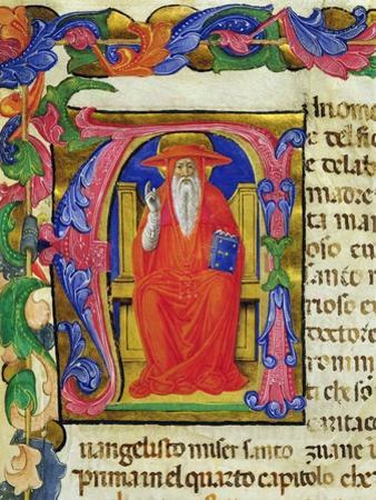 St. Jerome, from a Mariegola of the Lay Guild of St. Jeroma, C.1400 by Italian School