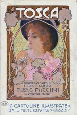 Title Page of Score Sheet for the Opera Tosca by Puccini, c.1910 by Italian School