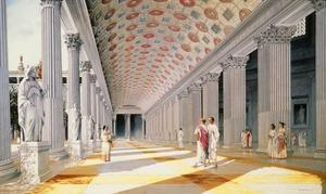 Trajan's Forum - Reconstruction of the Colonnade by Italian School