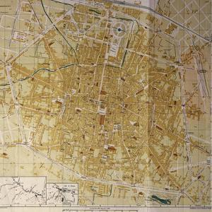 Italy, Bologna, Map of Town