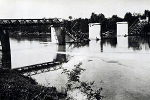 Italy, Bridge in Campo San Martino after Being Blown Up by Damiano Church Brigade