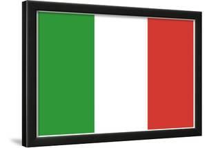 Italy Flag Art Print Poster
