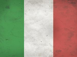 Italy Flag Distressed Art Print Poster