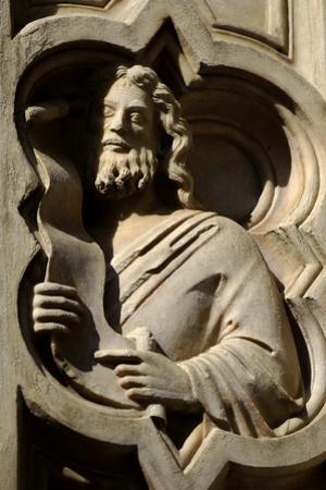Italy. Florence. Loggia Del Bigallo. a Prophet. 14th Century