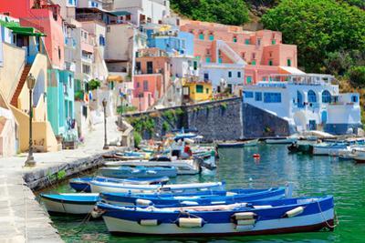 Italy, Gulf of Naples, Procida island - Village Corricella.