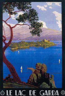 Italy - Lake Garda Travel Promotional Poster